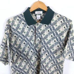 Dollar Bills Money Allover Print Golf Polo Shirt